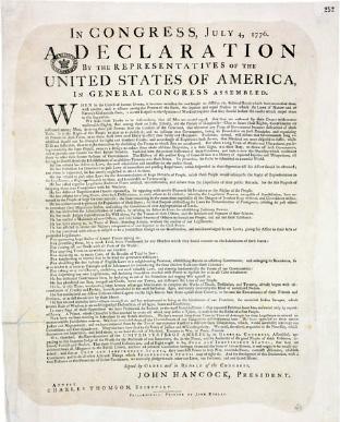 carta decla EUA